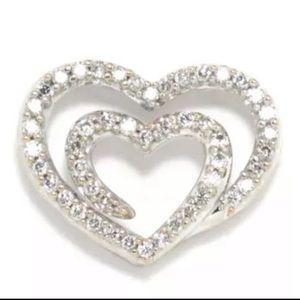 14 K diamond heart pendant